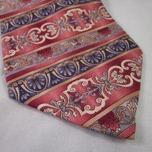 OSCAR DE LA RENTA Silk Necktie STRIPE Pink Gray